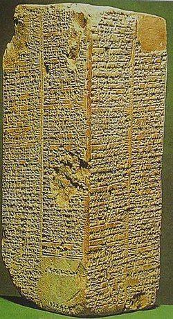 蘇美王表使用蘇美語刻寫,記載王權自天而降,最早的阿魯利姆國王,統治了 28800 年(維基百科 https://zh.wikipedia.org/wiki/%E8%8B%8F%E7%BE%8E%E5%B0%94%E7%8E%8B%E8%A1%A8)