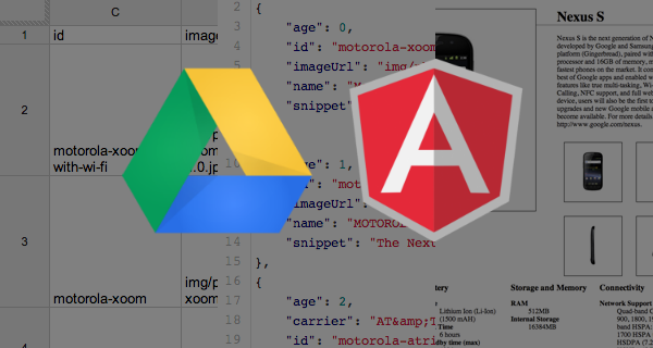 AngularJS + Google Spreadsheet